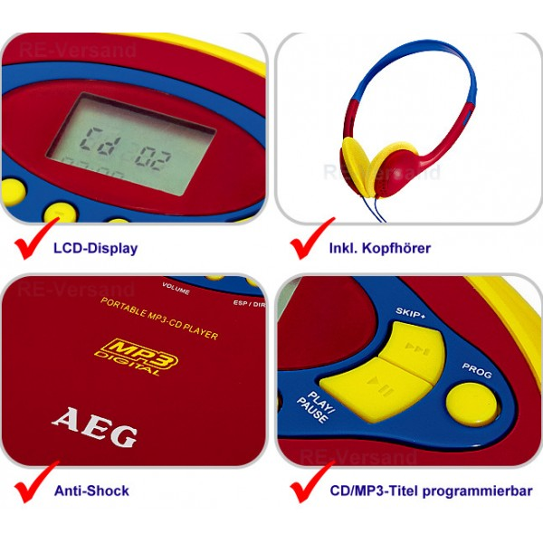 CD/MP3 плеер AEG CDP 4228 bunt