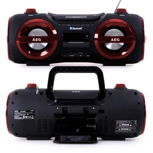 Аудио магнитола AEG SR 4359 BT красный