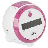 Радиочасы AEG MRC 4126P weis-rosa